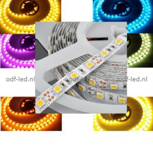 RGB led strip 12volt plakstrip dimmen dimbare led strip