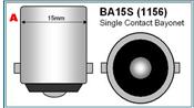 BA15S 1156 Single contact bajonet