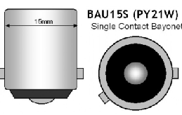 BAU15S bajonet led lamp single contact