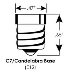 E12 LED LAMP FITTINGEN