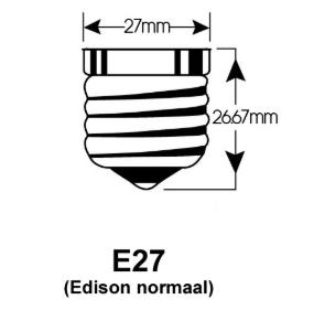 E27 EDISON LED LAMP FITTINGEN