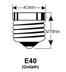 E40 led EDISON FITTINGEN