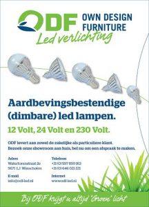 Aardbevingsbestendige led lampen ODF led lampen Winschoten