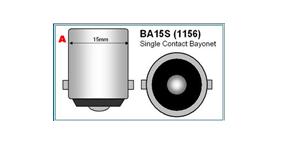 bajonet BA15S 1156 led lamp camperverlichting caravanverlichting